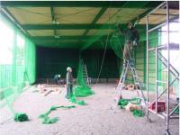 室内練習場の防球ネット新設工事