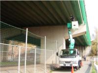 高架下の防鳥ネット補修工事