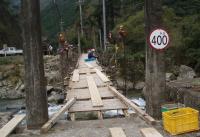 吊り橋補修工事